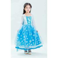 Baju Anak Dress Kostum FROZEN ELSA (15) - Rok Motif Berenda