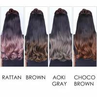 Hairclip ombre biglayer murah ori korea - brown thumbnail