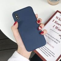 Biru Laut Soft Full Cover Case VIVO Y17 V15 Y95 Y91 Y93 Y85 Y81 Y83