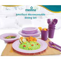 Amethyst Microwaveable Dining Set, 1set isi 16pcs