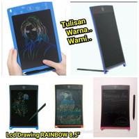 LCD Writing Tablet Rainbow 8.5 Inch Tablet Drawing Warna Warni Anak