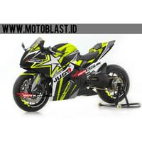 Decal stiker Honda CBR250RR Black sporty Green