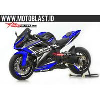 Decal stiker fullbody CBR250RR Black Sporty blue