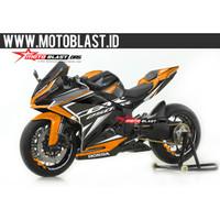Decal stiker Honda CBR250RR Black sporty orange