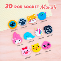 [Kode 041-054] Popsocket 3D Karakter/Popsocket PVC (MURAH)