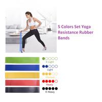Y013 Five Colors Set Yoga Resistance Rubber Bands Fitness Pilates