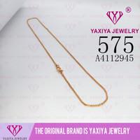 Kalung perhiasan imitasi lapis emas aksesoris 18k Yaxiya Jewelry 575