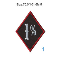 One percent 1% patches motorcycle club biker patch bordir satu persen