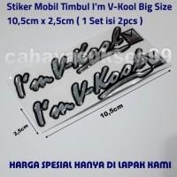 Stiker Kaca Mobil Timbul Im VKOOL Size 10,5cm Besar Stiker Resin Tebal