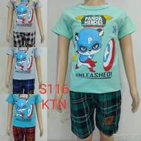 fashion baju setelan anak laki/cowok panda