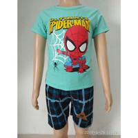 fashion baju setelan anak laki/cowok spiderman