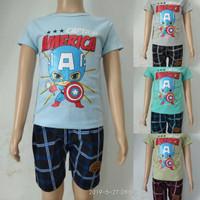 fashion baju setelan anak laki/cowok captain