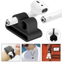 Watch Silicone Wrist Protective Case for Apple AirPods 1 & 2 - HITAM