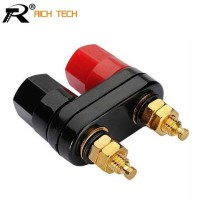 Rich Tech Banana Plugs Red Black Connector Amplifier - RTC6002160