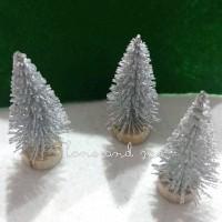 Pohon Natal Mini Maket Cemara - Silver