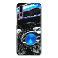 Indocustomcase Harley Davidson Blue Hard Case Cover For Huawei P20 Pro