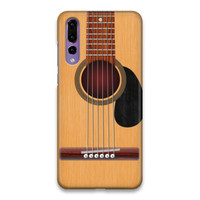 Indocustomcase Guitar Wood Hard Case Cover For Huawei P20 Pro