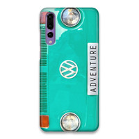 Indocustomcase Green VW Adventure Hard Case Cover For Huawei P20 Pro