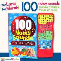 100 Noisy Sounds My First Words Board Book with 100 sound buttons