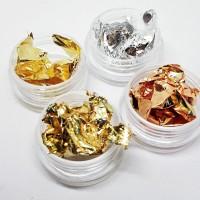 Nail Foil Aluminium Foil Flake Nail Art Gold Silver Tin Foil Kuku