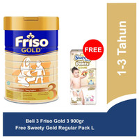Friso Gold 3 Susu Pertumbuhan 2700gr Free Sweety Gold Regular Pack L.