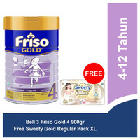 Friso Gold 4 Susu Pertumbuhan 2700gr Free Sweety Gold Regular Pack XL