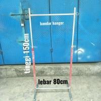 hanger gawang 80cm pipa bulat