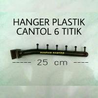 hanger suling plastik titik 6 paku