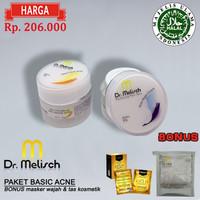 Paket Day & Night Cream Acne Dr Melisch Kualitas Terbaik Untuk Wajah B