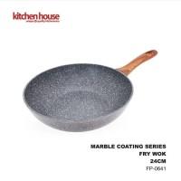 Fry Wok Induksi Marble Kitchen House 24cm