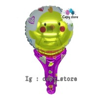 Balon Foil Pentung / Balon Tongkat Karakter Bebek / Duck