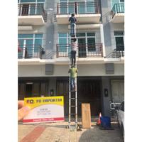 Tangga Lipat Aluminium Teleskopik 8M Single Telescopic Ladder 8 M