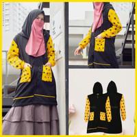 Jaket Muslimah Hijaber ADEEVA BLACK Hijacket Original Panjang Syari