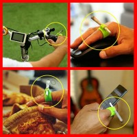 1 PC Random Color Silicone Ring Finger Hand Rack Holder