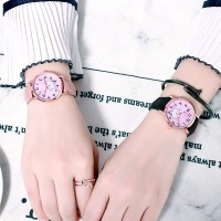 Jam Tangan Simple Lucu Gaya Korea Bahan Alloy untuk Wanita