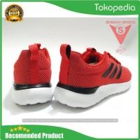 Sepatu Running - Adidas Lite Racer Cln Original F34571 Red 2019 -