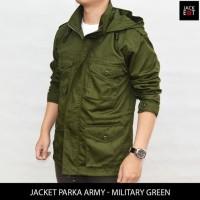 HOT SALE Jaket Parka Army - Military Green - Hijau Army, M