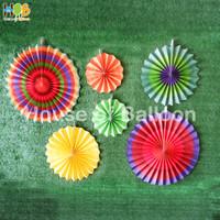 Paper fan Rainbow C set / paperfan / paper flower set 6 in 1