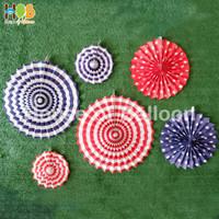 Paper fan Rainbow B set / paperfan / paper flower set 6 in 1