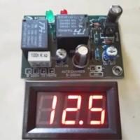 Kit Otomatis Charger Aki 12V kapasitas 5-200Ah plus Voltmeter Digital