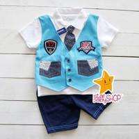 Baju Bayi Baju Anak Setelan Anak Tuxedo Badge