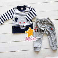 Baju Bayi Baju Anak Setelan Elephant Stripes