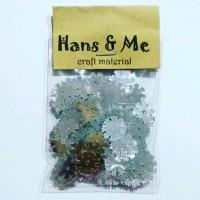 Payet Manik Salju Snow 10mm Silver