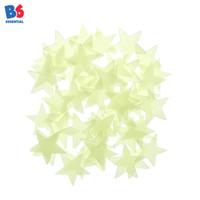 Wall Sticker Green Star Bintang Hijau - Glow in the Dark