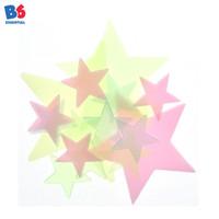 Wall Sticker Star Bintang Warna warni Glow in the Dark 50 Pcs | Import