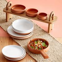 TERRACOTTA Set of 3 Mini Bakers Shallow Bowls