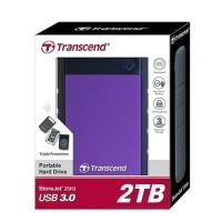 HARDISK TRANSCEND STOREJET 25H3 2TB ANTISHOCK USB 3.0/HDD EXTERNAL 2TB