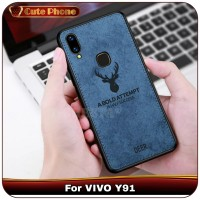 Casing VIVO Y91 Y 91 Soft Case Rusa Best Quality Canvas Softcase