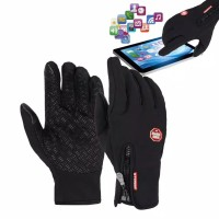 Sarung tangan outdoor touch screen windproof anti slip motor sepeda