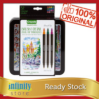 Crayola Brush Markers Dual-Tip with Ultra Fine Marker 32 colors 16 ct
